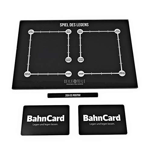 Geile Teile Sparset, Acrylglasplatte + Ziehröhrchen + Bahncard, Ziehplatte (Spiel des Legens Set)