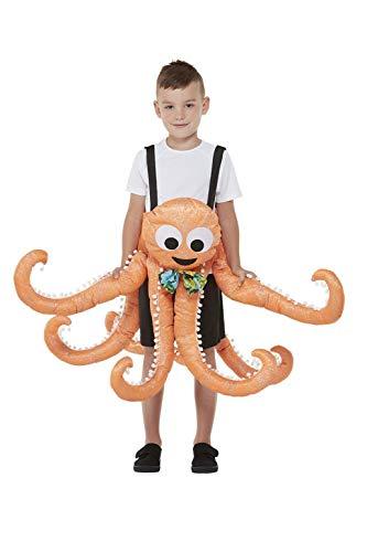 Smiffy's-Smiffys Ride In Octopus Costume Disfraz de pulpo, color naranja, talla única 71088