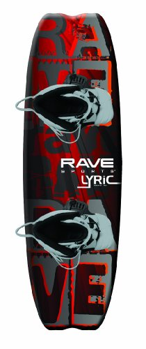 RAVE Sports Lyric Premier Wakeboard with Advantage Boots Fits Most Adults, Orange/Black (PV1802675)