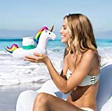 PureJoy Pink Flamingo, Black Swan, White Swan Inflatable Pool Drink Holders 3 Pack | Float Your Hot Tub Swimming Pool Drinks in Style (Unicorn)