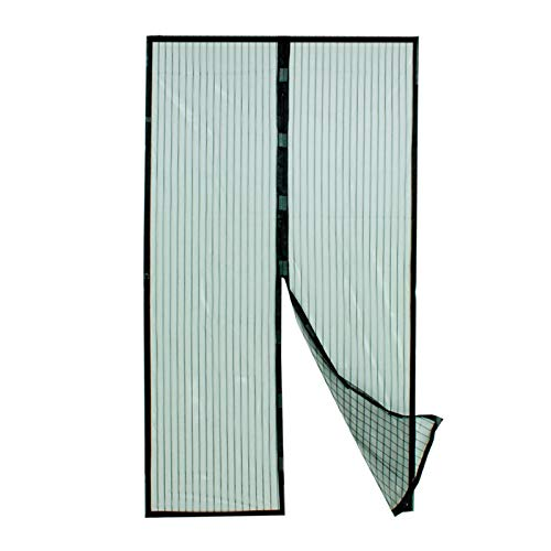 Grafner® magnetisches Fliegengitter | Türvorhang | 100 x 210 cm | Klebemontage ohne Bohren | optimal für Balkontüren Terrassentüren | Magnetvorhang Moskitonetz Magnet Schließsystem