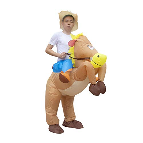 ZHIYONGJ Volwassen Opblaasbare Fancy Kostuum Halloween Opblaasbare Cowboy Outfit - Paard Fancy Jurk Kostuum - Purim Festival Stag Night Party
