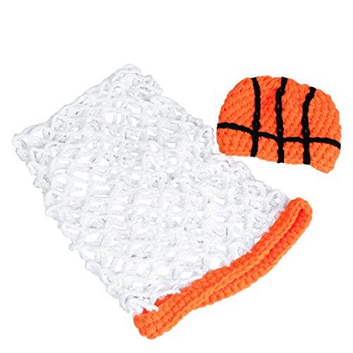 VALICLUD Recién Nacido Bebé Niña Niño Foto Prop Traje Crochet Ropa de Punto Baloncesto Net Abrigo Sombrero Fotografía Disparar Traje Accesorio