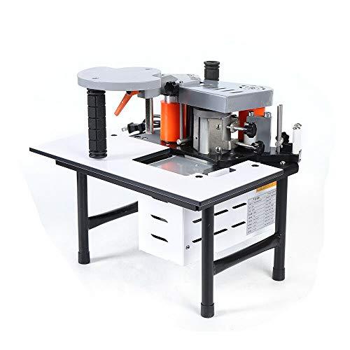 Eapmic Benchtop Edgebander Machine, 110V Portable Double Side Glue Woodworking Edge Bander Wood PVC Edge Banding Machine Adjustable Temperature