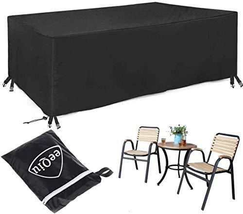 eeQiu Abdeckung Gartenmöbel 600D Oxford, [170 * 94 * 71cm] Praktische Abdeckung für Ihre Gartenmöbel - winterfeste Schutzhülle für Gartenmöbel - Outdoor Furniture Cover
