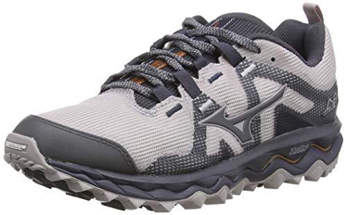 Mizuno Wave Mujin 6, Zapatillas de Running para Asfalto Mujer, Gris (Cloudburst/Pscope/10135 C 36), 38.5 EU