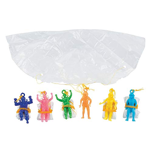 Fun Express Vinyl Paratroopers Assortment Action Figure (6 Dozen)