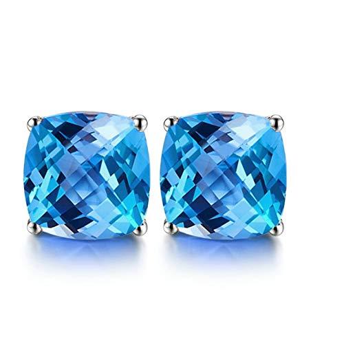 Pendientes de Zafiro Diamantes de 1ct Blisfille Joyería Pendiente Mujer Hoja Pendiente Estrella de Mar Pendientes de 18K Oro