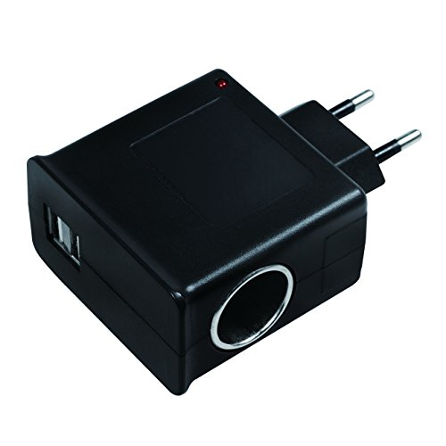 LogiLink Steckdosenadapter, 2x USB-Port 1A max. (5W) + 1x Zigarettenanzünder Buchse 1A max (12W)