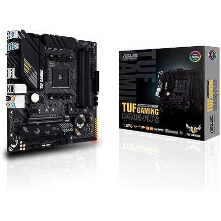 ASUS TUF Gaming B550M-PLUS AMD AM4 (3rd Gen Ryzen Micro ATX Gaming Motherboard (PCIe 4.0, 2.5Gb LAN, BIOS Flashback, HDMI 2.1, USB 3.2 Gen 2, Addressable Gen 2 RGB Header and Aura Sync)