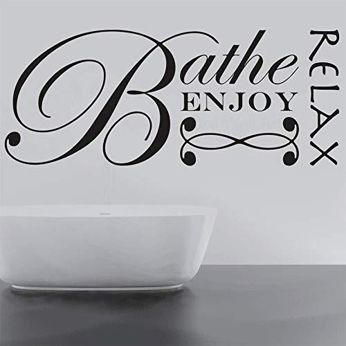 wZUN Cita Pegatinas de Pared Relajarse baño Disfrutar de Letras de Arte baño decoración del hogar calcomanía de Vinilo 68X27cm