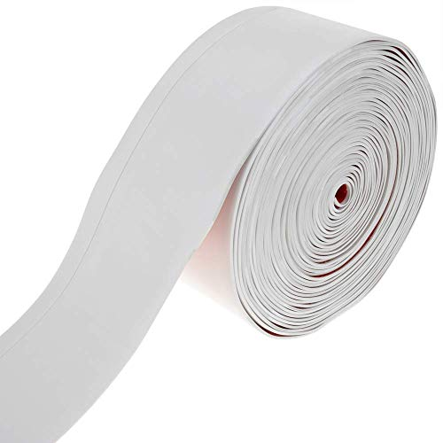 PrimeMatik - Rodapié Flexible Autoadhesivo 70 x 20 mm. Longitud 10 m Blanco
