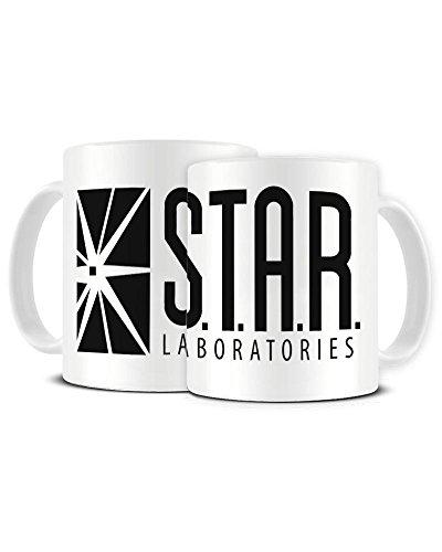 S.T.A.R. Funky NE Ltd Laboratories – Scientific and Technological Advanced Research Labs – Comic Book – Geek – Keramik Kaffeetasse – Teetasse – tolle Geschenkidee