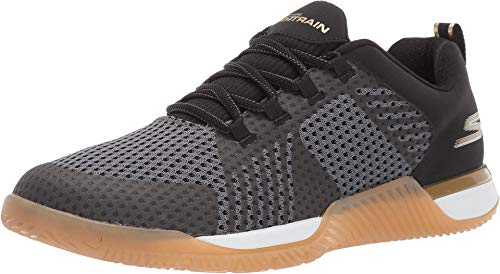 Skechers Men's GO Train-Viper Sneaker, Black/Gold, 8.5 M US