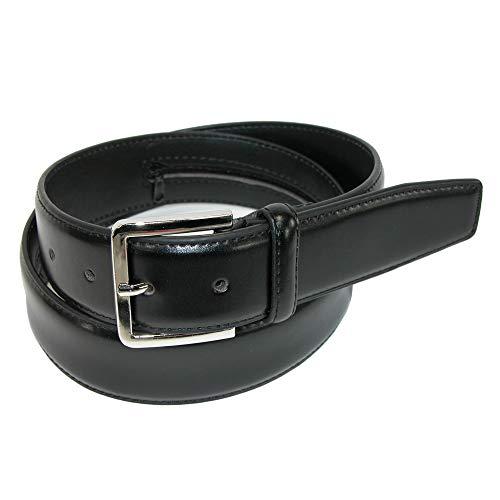 Leather Money Belt, Black, 46