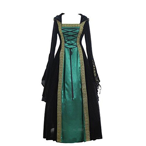 CosplayDiy Women's Medieval Renaissance Retro Gown Cosplay Costume Dress
