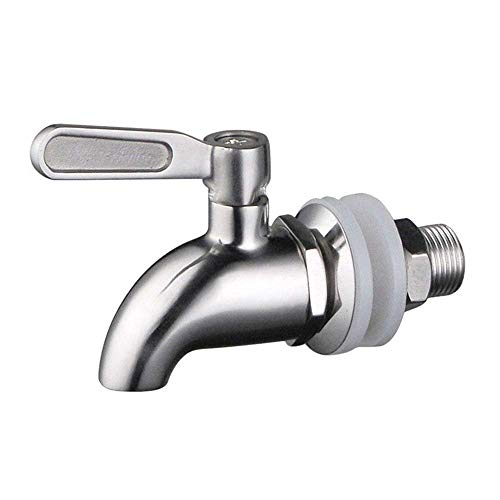 RVS Drank Dispenser Vervangende Kraan Tap Spigot Past 5/8 inch Opening voor Thuis Brew Barrel Fermenter Wijn Bier Drank Sap Dispenser (Drank Dispenser Faucet)