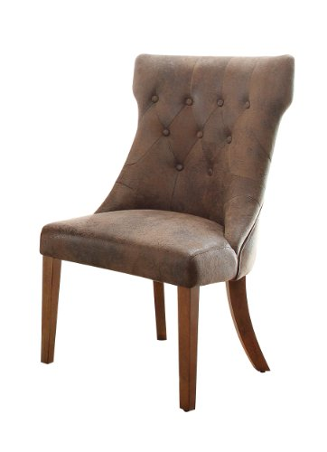 Homelegance Button-Tufted Accent/Dining Chair, Bomber Jacket Microfiber, Set of 2
