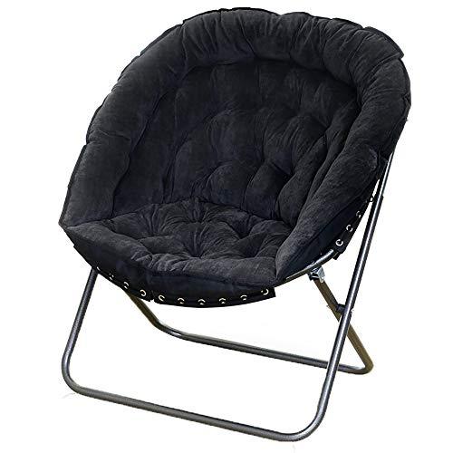 Q-Y-J Chaise Paresseuse/Chaise Longue Nordique/Bureau Balcon Divan-lit Simple/Chaise Pour Repas Décontracté À L'étage - Détachable - 7 Couleurs En Option (Couleur : Noir)