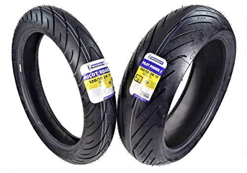 Michelin Pilot Power 3 Sport Bike Radial High Speed Motorcycle Tire (120/70ZR17 Front 190/50ZR17 Rear)
