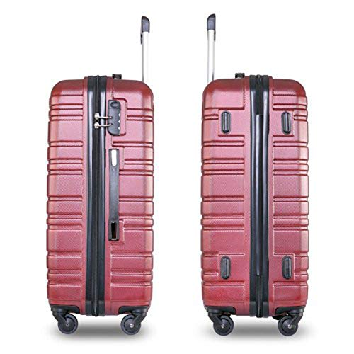 MDDCER Suitcase Set Luggage Sets Of 3 With 4 Spinner Wheels ABS Hard Shell Lightweight TSA Lock Suitcase L M S