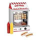 Royal Catering Máquina de Perritos Calientes al Vapor Hot-Dog Machine RCHW 2000 (2000 W, Capacidad 200 salsicce, 50 panecillos, Temperatura 30-110 °C, Válvula de desagüe) Acero inoxidable