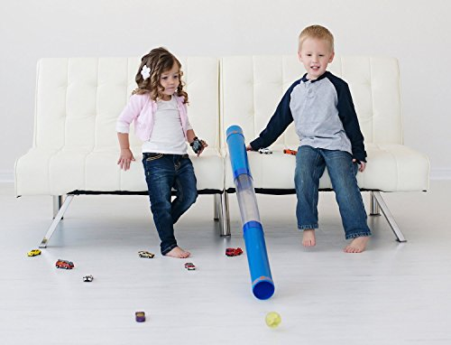 Inspiration Play Tot Tube Playset - Toy Car and Ball Tunnel Ramp Race Track STEM Award-Winning