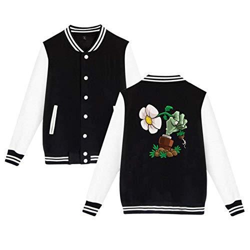 Lanmei Plants Vs. Zombies Unisex Hipster Baseball Uniform Jacket Sport Coat Black