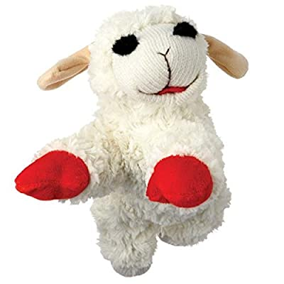 """Multipet Lamb Chop Classic Plush Toy (4 Sizes) (SM- 5"""" for Small Dogs)"""
