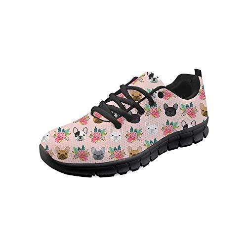 Seanative - Zapatillas deportivas para caminar para mujer, color Rosa, talla 36 EU