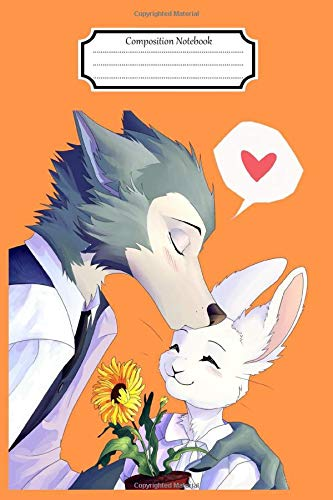Composition Notebook:Beastars Waifu Yandere Kawaii #12 Anime Manga Journal/Notebook Blank Lined Ruled 6x9 120 Pages