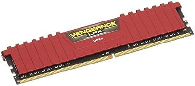 Corsair CMK8GX4M1A2666C16R Vengeance LPX 8 GB (1 x 8 GB) DDR4 2666 MHz C16 XMP 2.0 High Performance Desktop Memory Module, Red