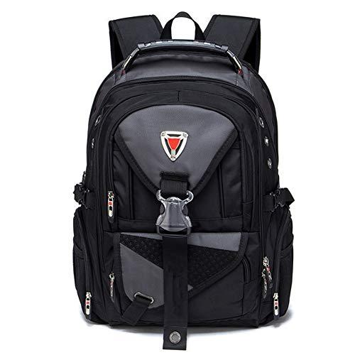 Ssszx - Zaino per computer portatile da 17 pollici in tessuto Oxford borsa da viaggio multifunzionale per la scuola resistente all'acqua per attività all'aperto per donne e uomini, Grigio