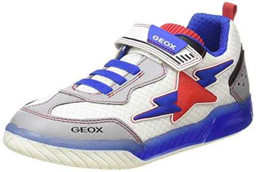 Geox Jungen J INEK Boy B Sneaker, Weiß (White/Royal C0293), 30 EU