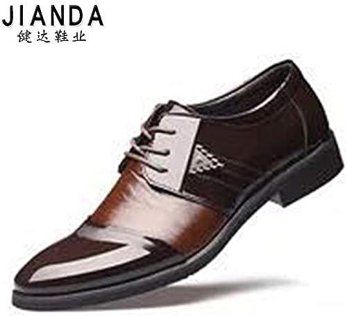 LOVDRAM Chaussures en Cuir pour Hommes Chaussures en Cuir pour Hommes, Chaussures Pointues, Chaussures Basses, pour Hommes