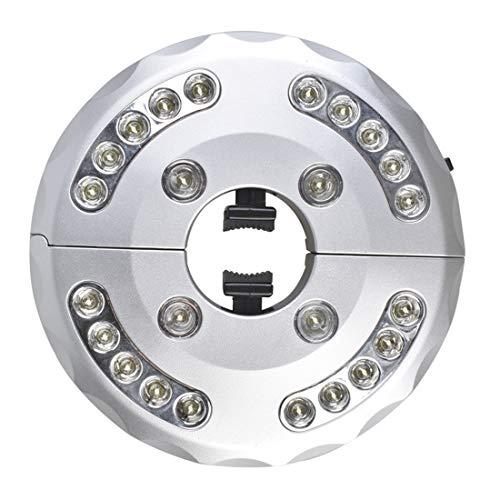 Txian 24 LED kabellose Terrassenschirm Lichter, 3 Stufen, dimmbar, für Sonnenschirme, Camping-Zelte und andere Outdoor-Anwendungen Kaltweißes Licht