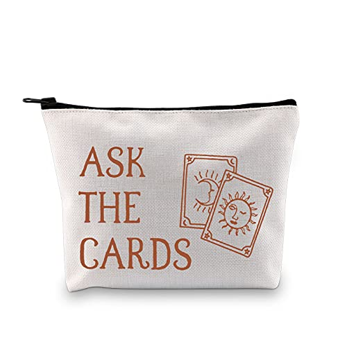 G2TUP Tarot Card Storage Bag for Tarot Enthusiasts Ask the Cards Halloween Witch Zipper Bag (Ask the Cards)