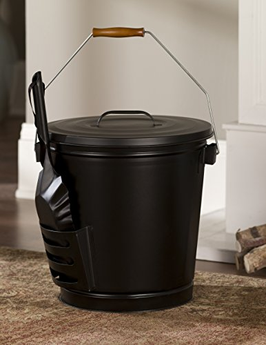 Panacea 15343 Ash Bucket with Shovel, Black 2 Ash bucket with shovel A specifically designed pocket on the side of the bucket holds the shovel, for an all in one unit, and the included lid keeps ash from spilling onto the floor This generous bucket holds plenty of ash from past fires, and the included shovel makes cleanup simple