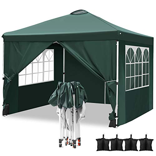 Hikole Carpa 3x3 Cenador Plegable Impermeables Carpas de Jardin Pop Up Gazebo...