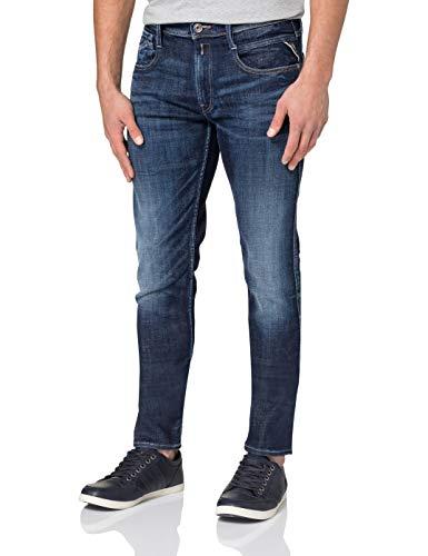 Replay Anbass Aged Jeans, Bleu foncé (007), 34W / 36L Homme