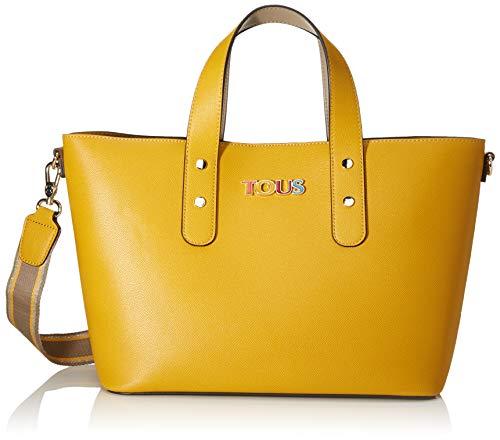 TOUS New Essence, Bolso de mano para Mujer, Multicolor (Mostaza Topo 995900799), 31x24x15 cm (W x H x L)