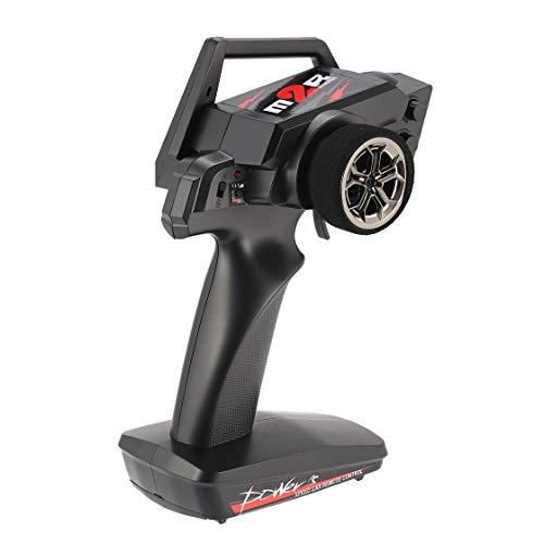 BlackPJenny Ricambi per radiocomando radiocomandati 2.4G 2CH Trasmettitore Radio per Auto RC 1/12 Wltoys 12428/12423 4WD Crawler Right Hand Mode