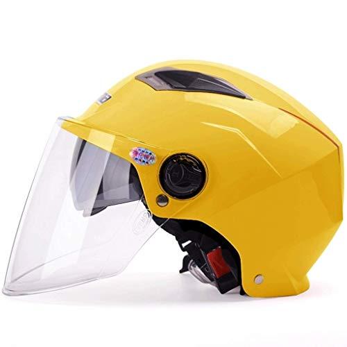 Helmen - Zomer Elektrische Scooter Voor Mannen En Vrouwen Zomer Zonbescherming Lichtgewicht Dubbele Half Overdekt YSJ