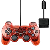 Controlador PS3 Adecuada for Sony PS2 Wired Gamepad Joystick vibración Wired Controller Gamepad Personaje 5 (Color : Red)