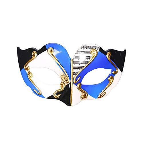 HUOQILIN maskerademasker met platte kop van hard plastic