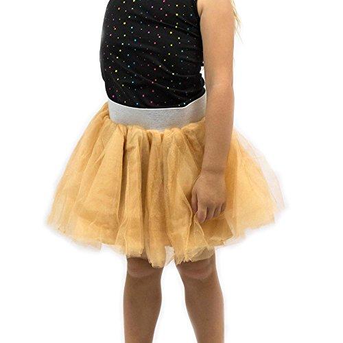 Everfan Gold Tutu, Princess, Ballerina, Dance Tutu, Runner Skirt, Race Tutu - X-Small