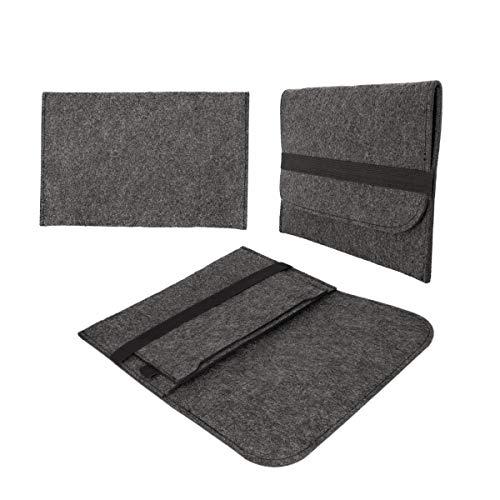 eFabrik Filz Tasche für Medion LifeTab P8912 / P8911 (8,9 Zoll) Tablet Schutz Hülle Dunkelgrau