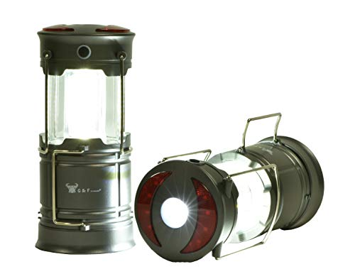 2 Pack 360 LED Lanterns flashlights Emergency Lights with Magnet Base for Super Bright, Long-Lasting Run-time, Battery Powered Outdoor LED...