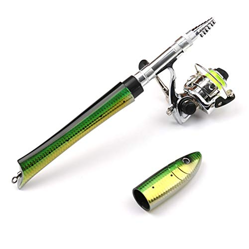 PiscatorZone Pen Fishing Pole 55 Inch Mini Pocket Fishing Rod Travel...
