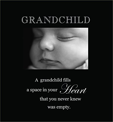 Infusion Gifts 3002-LB Grandchild Engraved Photo Frames, Large, Black